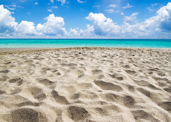 Zee mooie strand tropische water achtergrond Stockfoto © Pakhnyushchyy