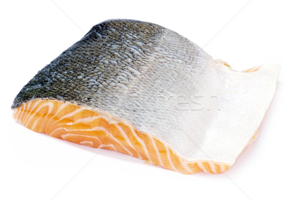 鮭 ステーキ 赤 魚 白 海 ストックフォト © Pakhnyushchyy
