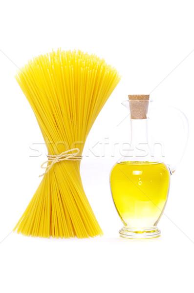 Foto d'archivio: Spaghetti · isolato · bianco · alimentare · pasta