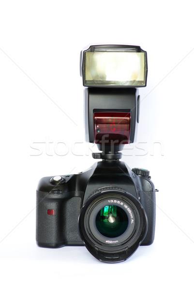 Fotocamera digitale nero isolato bianco professionali moderno Foto d'archivio © Pakhnyushchyy