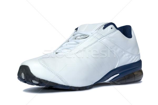 Zapatillas blanco gimnasio zapatos formación cuero Foto stock © Pakhnyushchyy