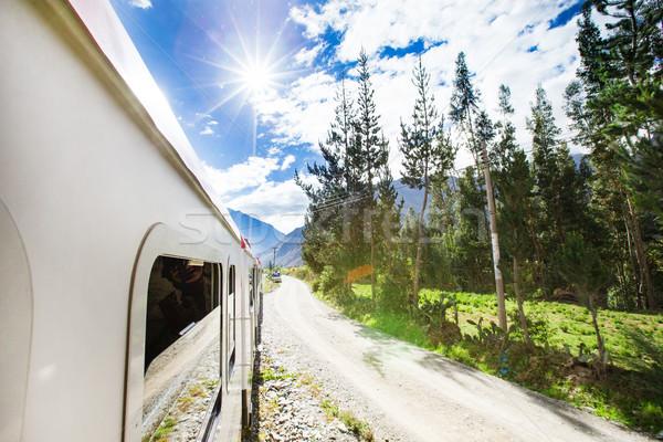 Ray tren seyahat turist turizm tur Stok fotoğraf © Pakhnyushchyy
