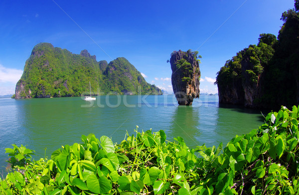 島 タイ 水 雲 自然 海 ストックフォト © Pakhnyushchyy