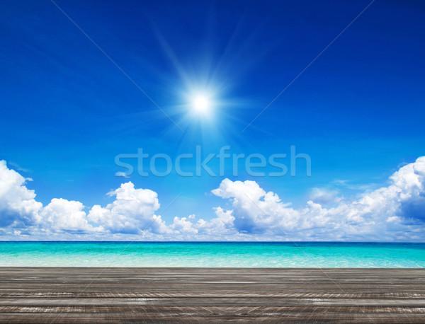 Tenger gyönyörű tengerpart trópusi nyár óceán Stock fotó © Pakhnyushchyy