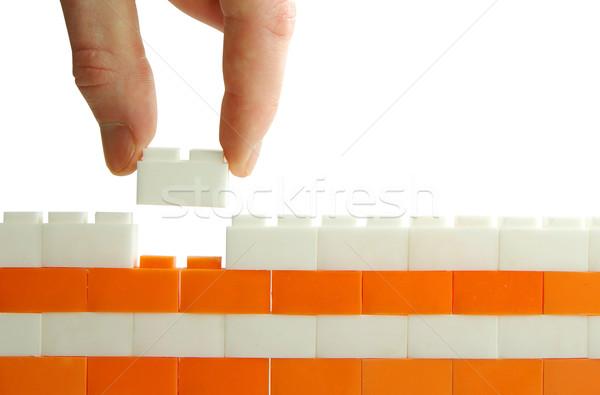 строительство стены белый бизнеса текстуры стороны Сток-фото © Pakhnyushchyy