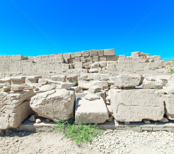 Stock photo: Ancient ruins of Karnak temple in Egypt