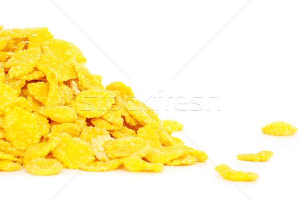 Gabonapehely friss fehér étel háttér kukorica Stock fotó © Pakhnyushchyy