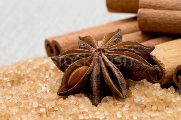 Anis canela mesa de madeira comida tabela cozinhar Foto stock © Pakhnyushchyy