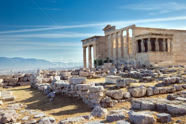 Parthenon on the Acropolis in Athens Stock photo © Pakhnyushchyy