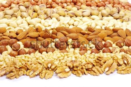 ナッツ テクスチャ 食品 自然 脂肪 ストックフォト © Pakhnyushchyy
