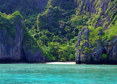 Rocas mar krabi agua paisaje océano Foto stock © Pakhnyushchyy