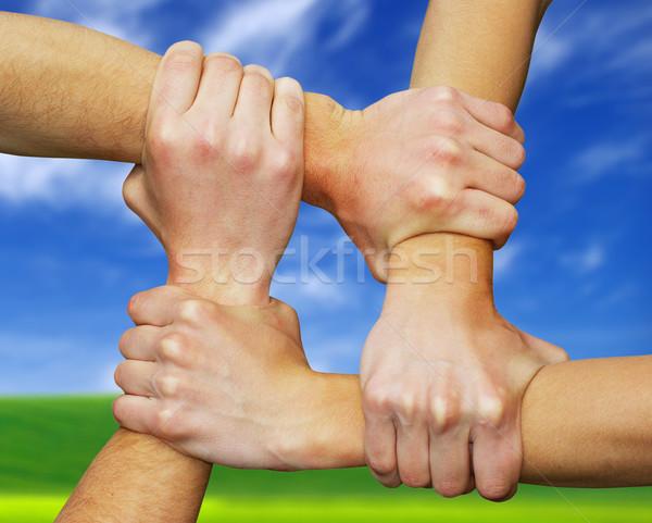 Сток-фото: рук · области · команде · дружбы · стороны · сеть