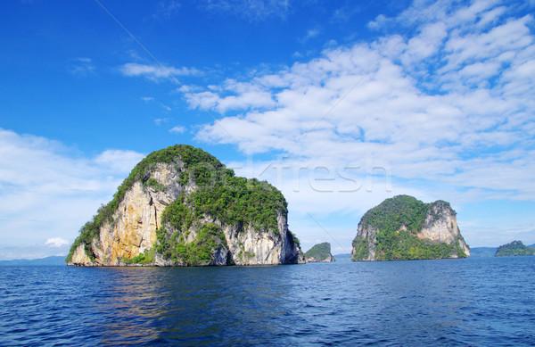 Stok fotoğraf: Deniz · kayalar · krabi · su · manzara · okyanus