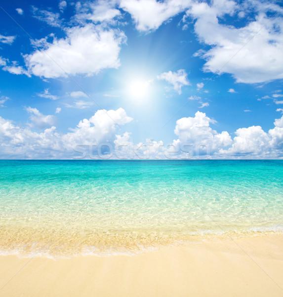 Deniz güzel plaj tropikal su arka plan Stok fotoğraf © Pakhnyushchyy