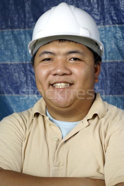 笑みを浮かべて アジア エンジニア 肖像 男 幸せ ストックフォト © palangsi