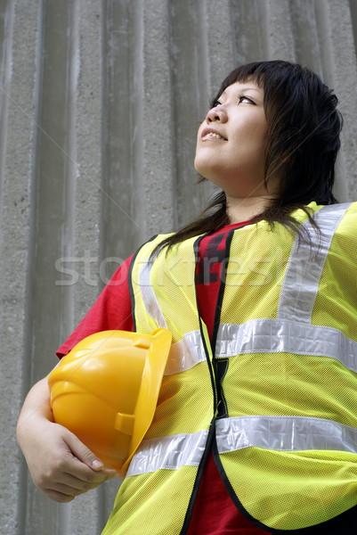 アジア 女性 建設 女性 ストックフォト © palangsi