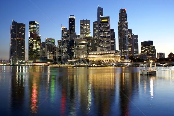 シンガポール 市 水 1泊 ストックフォト © palangsi