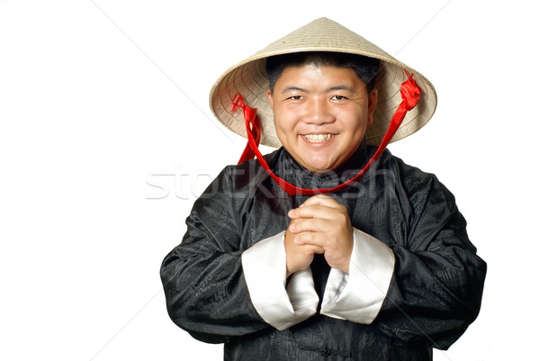 Vietnamese man congratulations  Stock photo © palangsi