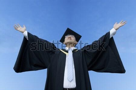 幸せ 男性 アジア 大学院 成功 白 ストックフォト © palangsi