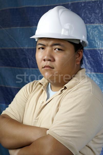 深刻 アジア 建設 エンジニア 肖像 ストックフォト © palangsi
