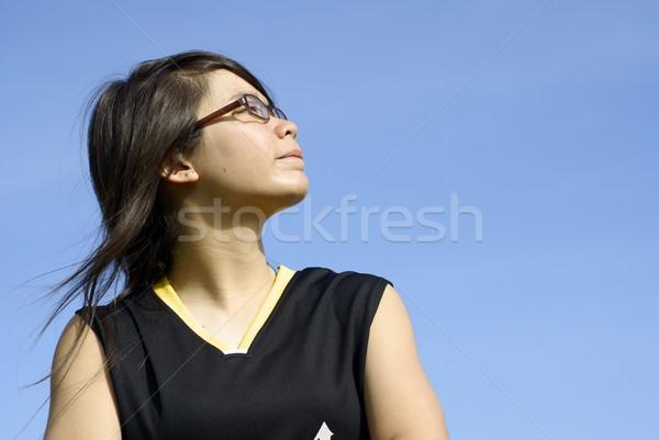 スポーティー アジア 少女 サイド ストックフォト © palangsi