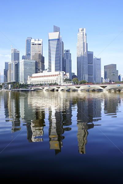 シンガポール 市 水辺 スカイライン ストックフォト © palangsi