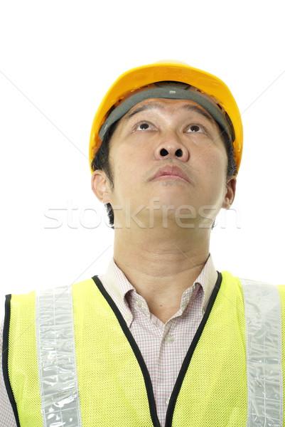 アジア 建設 白 男 ストックフォト © palangsi