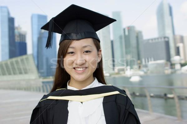 笑みを浮かべて アジア 大学院 女性 市 笑顔 ストックフォト © palangsi