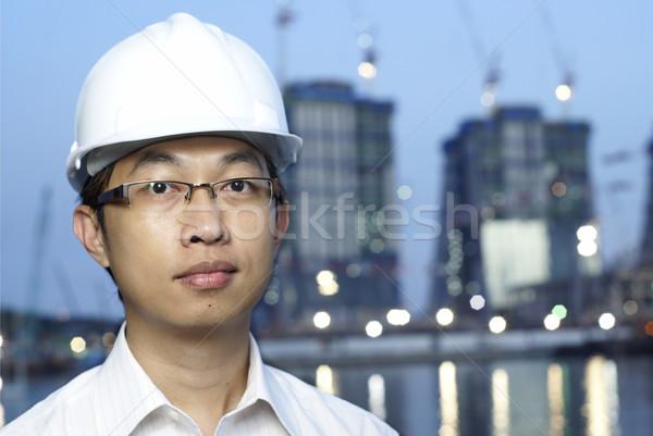 アジア 建設 エンジニア 執行 ワーカー ヘルメット ストックフォト © palangsi
