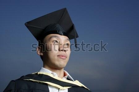 笑みを浮かべて アジア 女性 大学院 肖像 幸せ ストックフォト © palangsi
