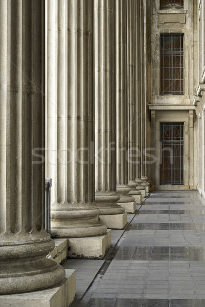 列 廊下 建物 レトロな 具体的な ストックフォト © palangsi