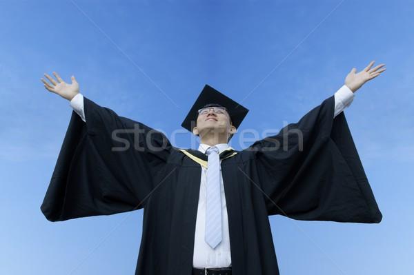 幸せ アジア 男性 大学院 空 ストックフォト © palangsi