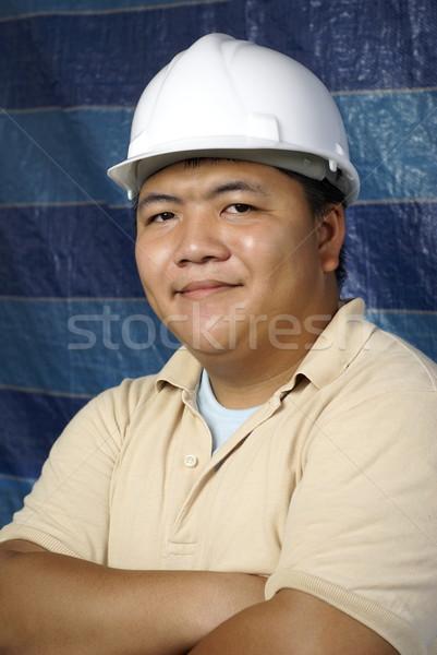 笑みを浮かべて アジア 建設 肖像 ワーカー 中国語 ストックフォト © palangsi