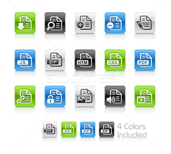 Documents Icons - 1 // Clean Series Stock photo © Palsur