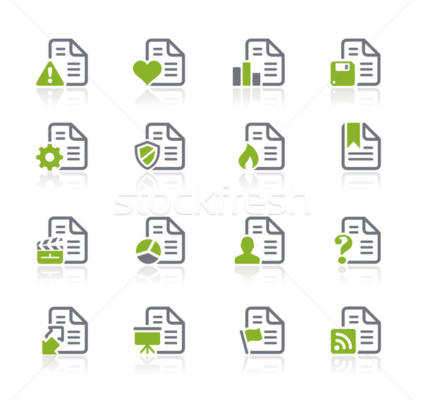 Documents Icons - 2 of 2 -- Natura Series Stock photo © Palsur