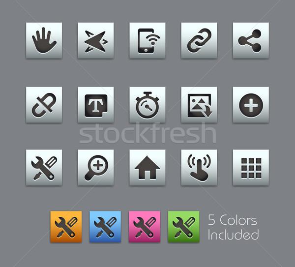 System Icons Interface -- Satinbox Series Stock photo © Palsur