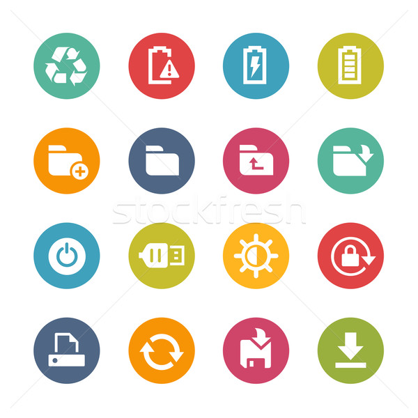 Web and Mobile Icons 3 -- Fresh Colors Series Stock photo © Palsur