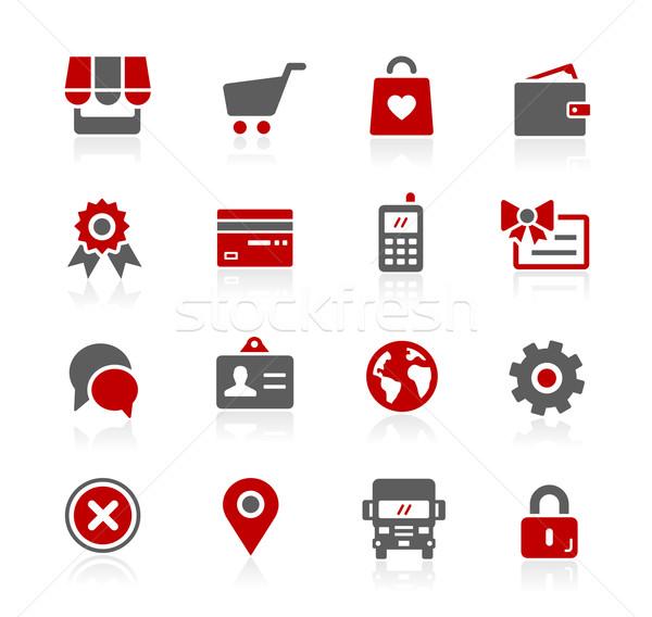 Boutique en ligne vecteur icônes numérique imprimer projets Photo stock © Palsur