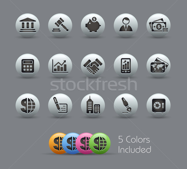 Business financieren eps bestand kleur icon Stockfoto © Palsur