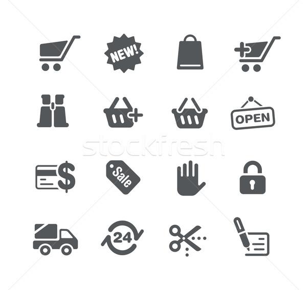 ícones teia armazenar utilidade vetor digital Foto stock © Palsur