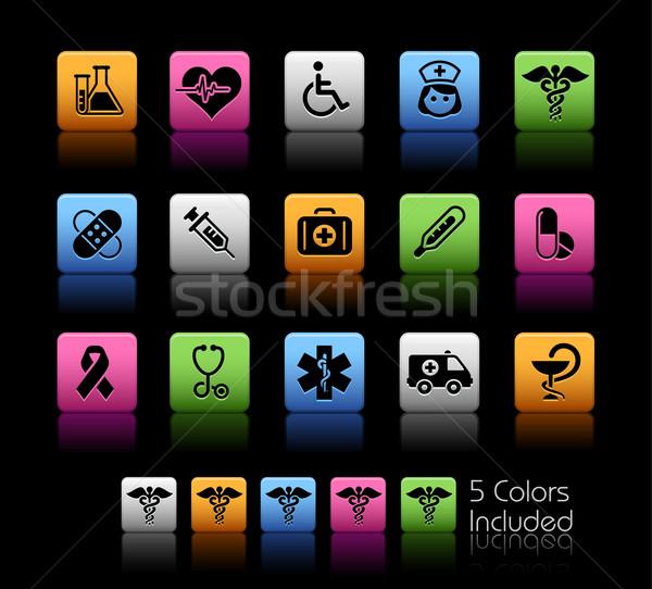 Foto stock: Medicina · cuidar · cor · caixa · eps · arquivo