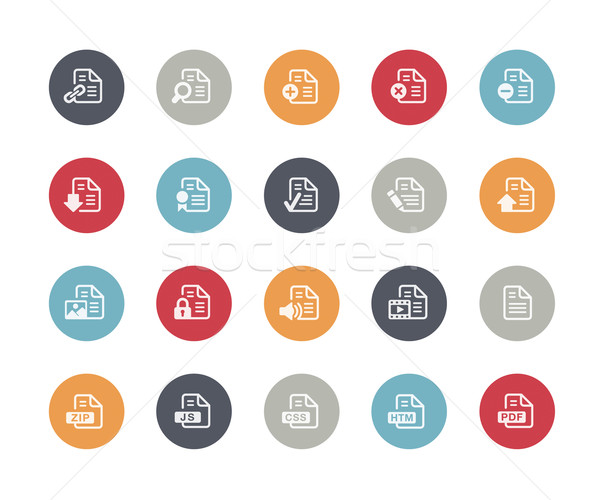 Documents Icons Set 1 of 2 // Classics Series Stock photo © Palsur