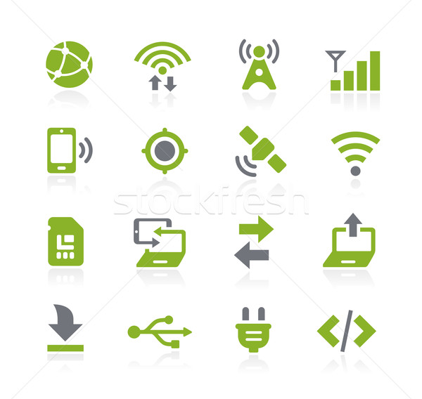 Connectivity Icons // Natura Series Stock photo © Palsur