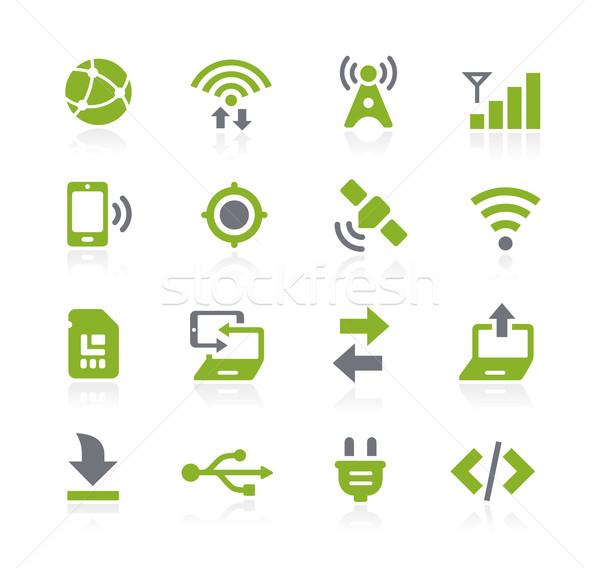 接続性 アイコン ベクトル ウェブ 携帯 印刷 ストックフォト © Palsur