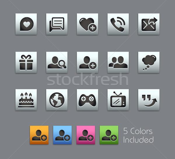 Społecznej komunikacja ikona wektora pliku kolor Zdjęcia stock © Palsur