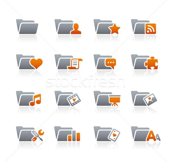 Folder Icons - 2 // Graphite Series Stock photo © Palsur