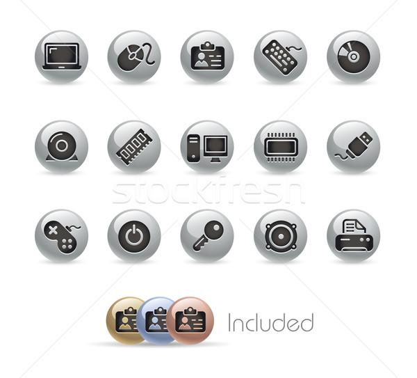 Stock photo: Computer & Devices // MetalRound Series