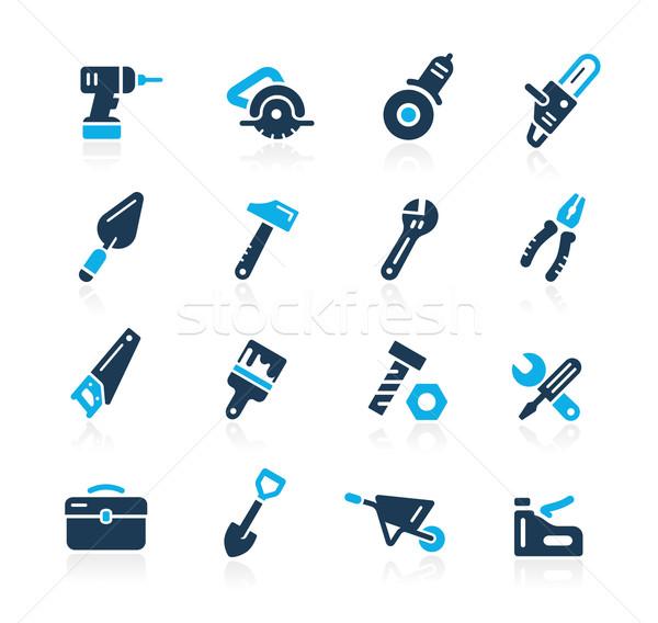 Tools Icons // Azure Series Stock photo © Palsur