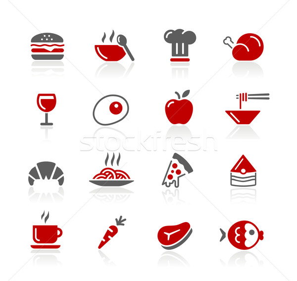 Food Icons / Set 1 of 2 // Redico Series Stock photo © Palsur