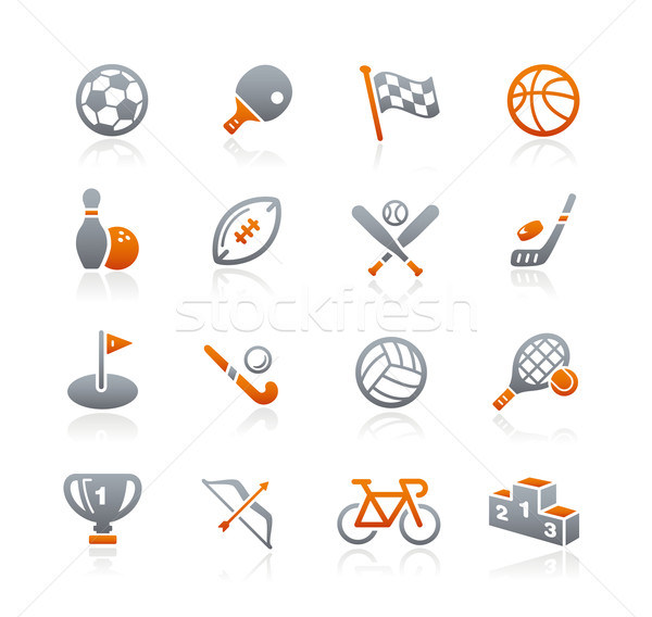 Sports Icons // Graphite Series Stock photo © Palsur